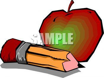 350x262 Teacher Apple And Pencil Clipart Panda