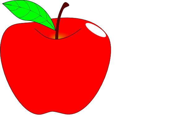 600x441 Teacher Apple Clip Art