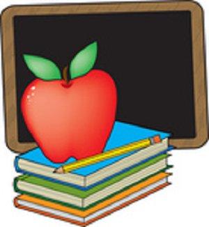 300x326 Attendance Clipart 33667 Clip Art Graphic Of A Red Teachers Apple