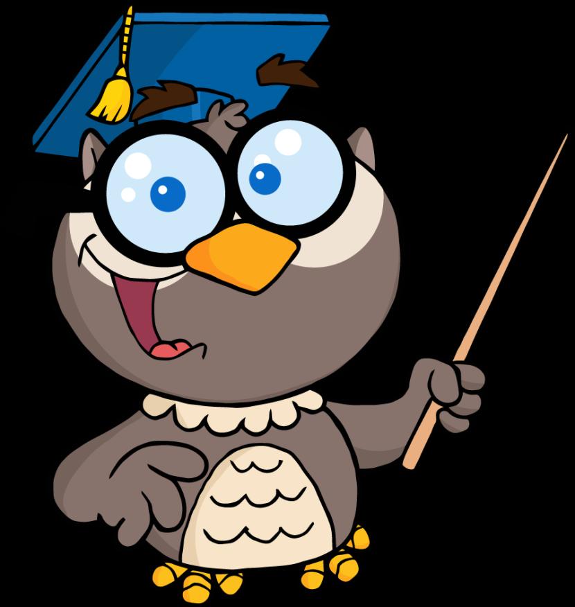 830x876 School Owl Teacher Clipart