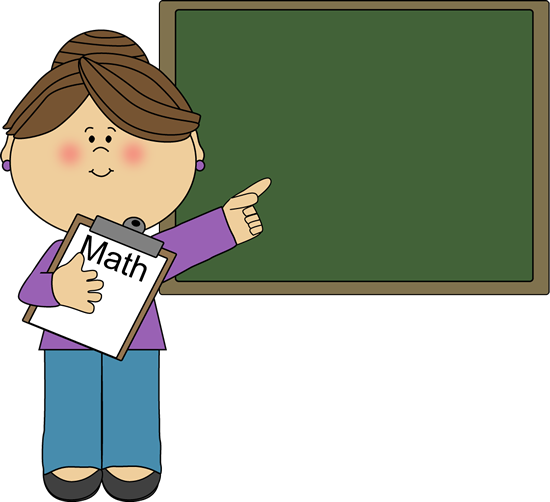 550x502 Woman Math Teacher Clip Art