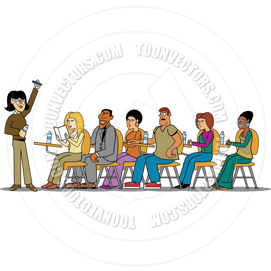 940x940 Cartoon Students And Teacher Vector Illustration By Clip Art Guy