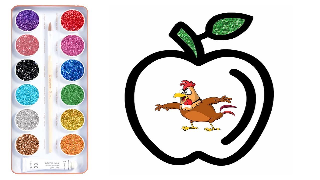 1280x720 How To Draw Apple Coloring Pages And Drawing Coloring Teaching