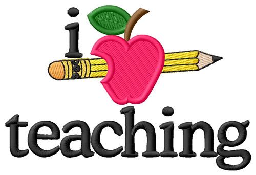 500x342 I Love Teachingapple Amp Pencil Clipart Panda