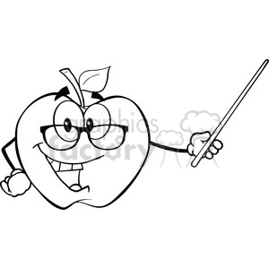 300x300 Royalty Free 6508 Royalty Free Clip Art Black And White Apple
