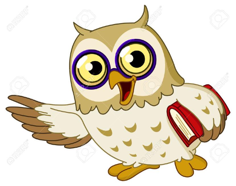 830x653 Smart Owl Clip Art