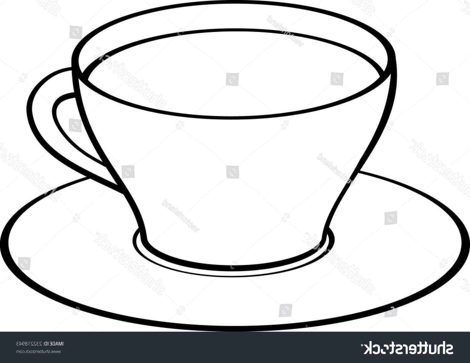 1500x1159 Best Hd Stock Vector Coffee Or Tea Cup With Saucer File Free