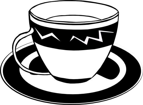 594x438 Tea Cup Clipart Cartoon Pencil And In Color Tea Cup