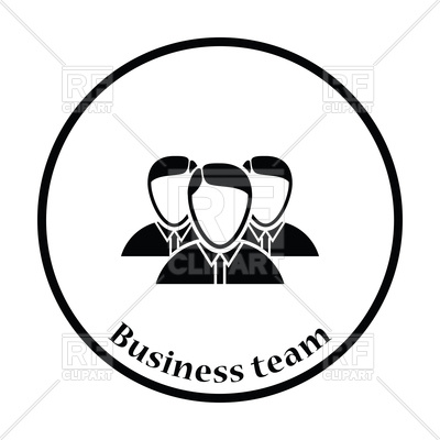 400x400 Business Team Icon Royalty Free Vector Clip Art Image