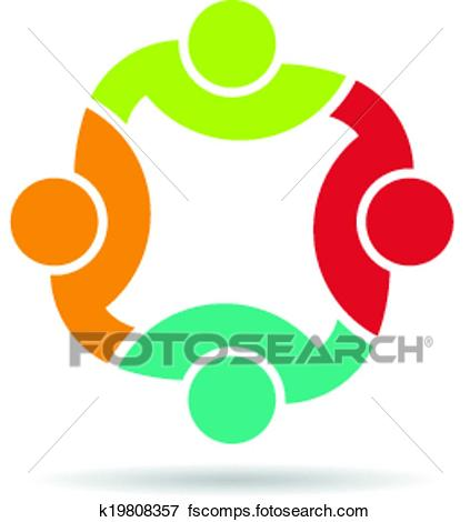 423x470 Clip Art Of Team 4 Congress Logo. K19808357