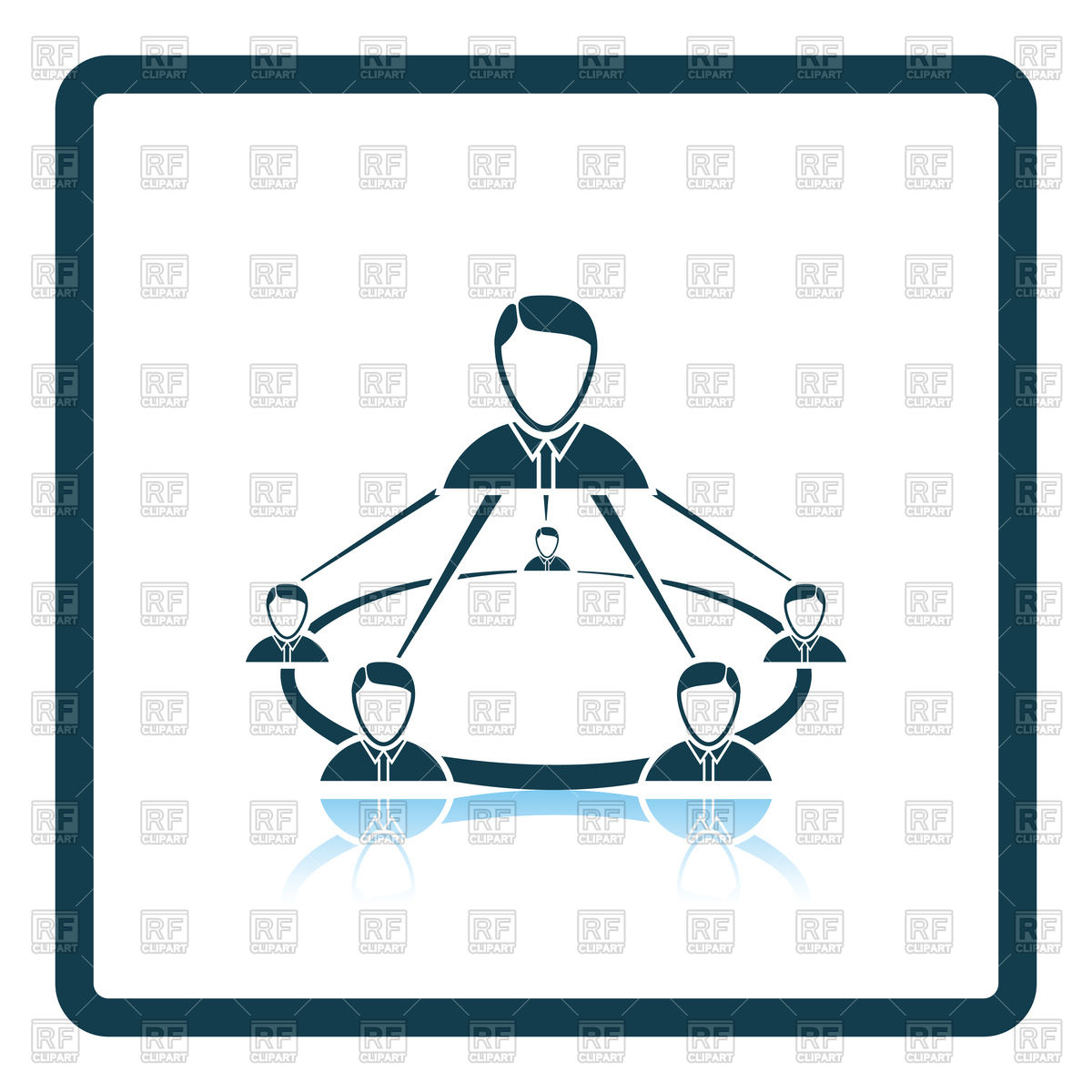 1200x1200 Business Team Icon Royalty Free Vector Clip Art Image