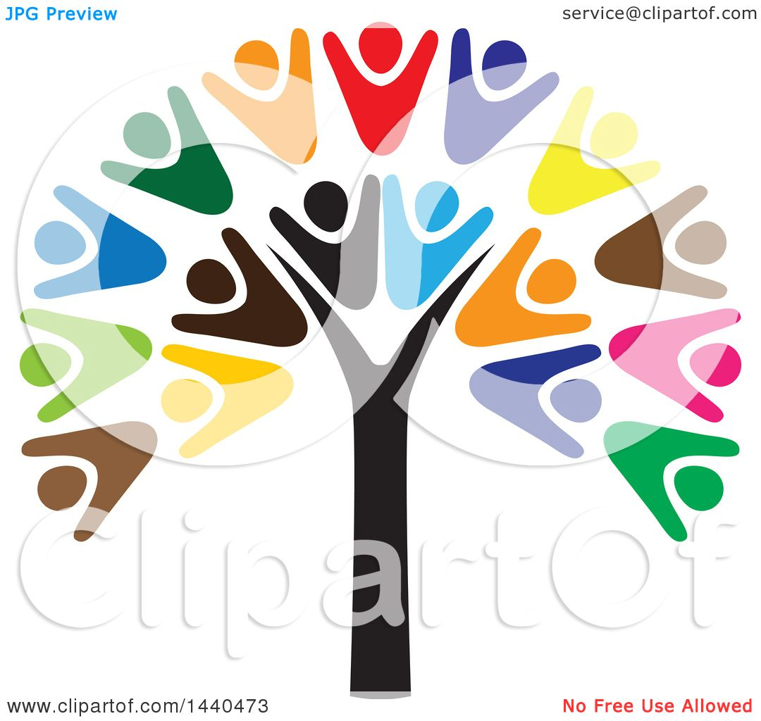 1080x1024 Clipart Of A Teamwork Unity Group Of People Forming A Tree