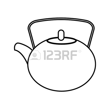 Teapot Black And White
