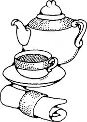 180x252 Tea Pot And Cup Clip Art, Vector Tea Pot And Cup