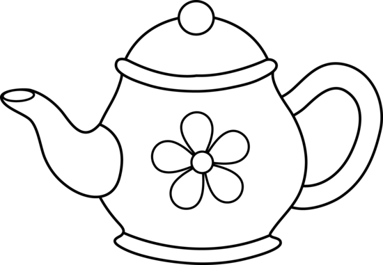 Teapot Clipart Black And White   Free download best Teapot Clipart ...