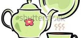 272x125 Tea Cup Clip Art, Tea Party Bridal Shower Clipart, High Tea