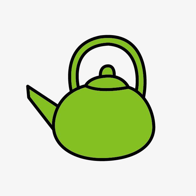 625x625 Lovely Green Tea, Green Tea, Cartoon Teapot, Teapot Png Image