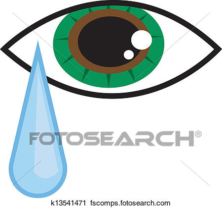 450x420 Clipart Of Eye Tear K13541471