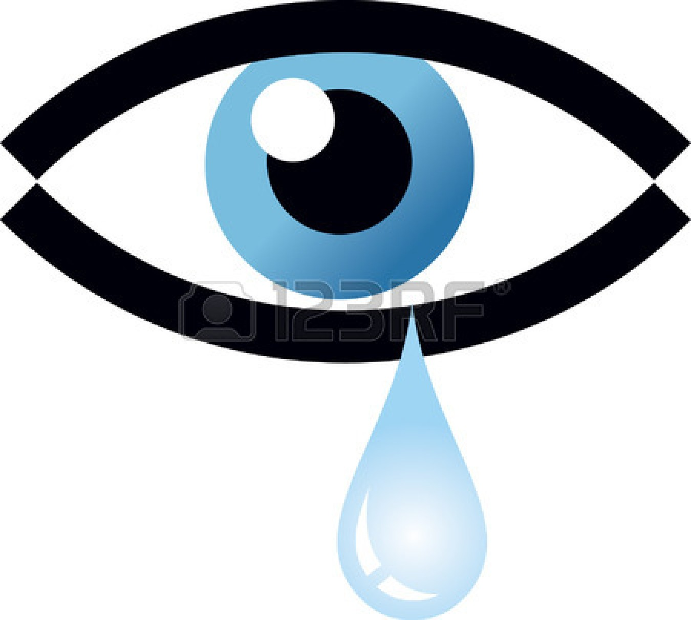 1350x1212 Blue Eyes Clipart Eye Tear