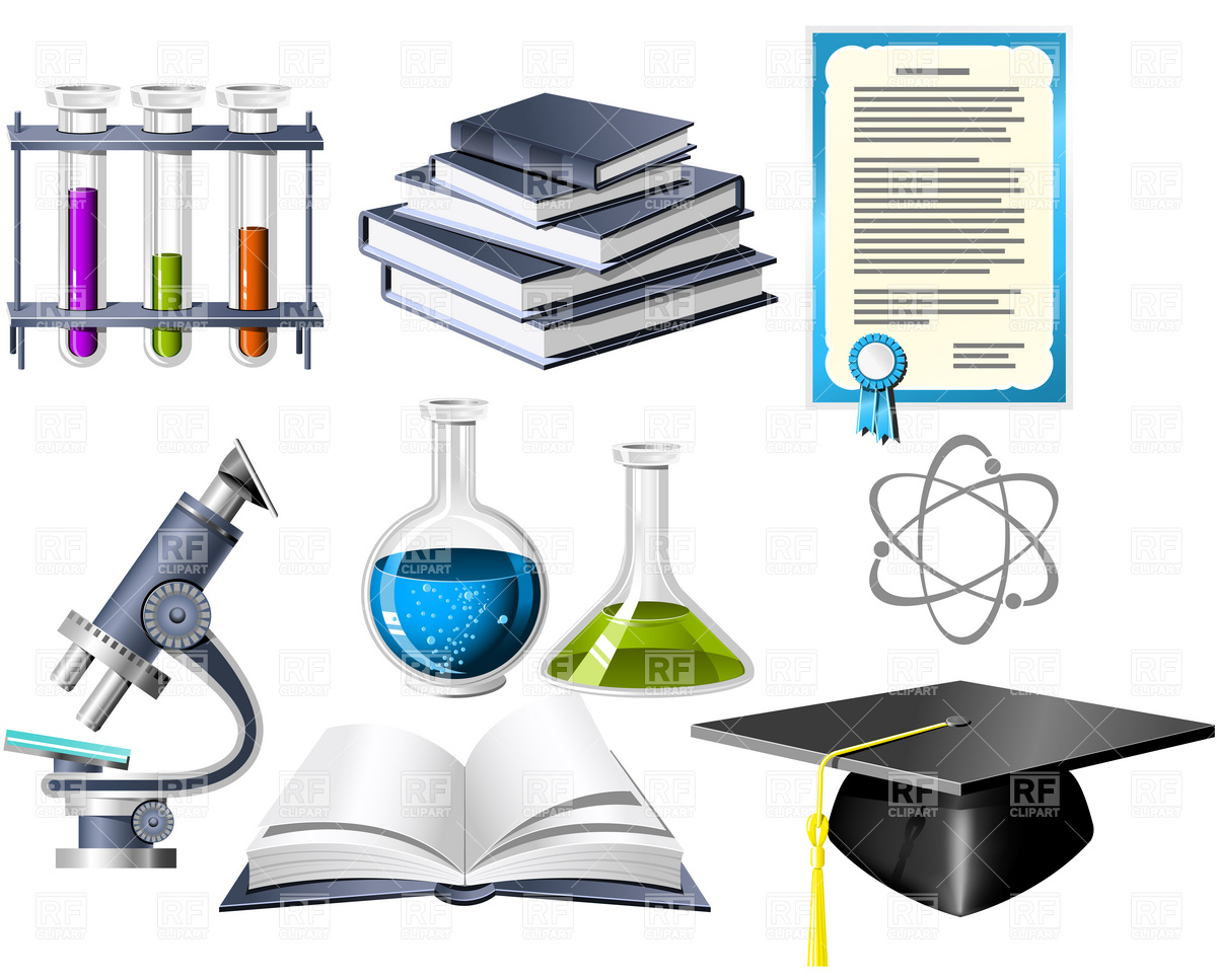 1200x967 Science And Education Icons Royalty Free Vector Clip Art Image