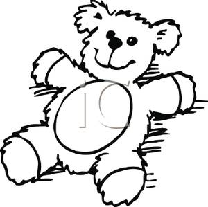300x299 Bear Clipart Black And White