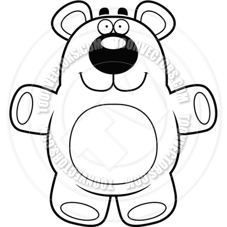 460x460 Cartoon Teddy Bear (Black And White Line Art) By Cory Thoman