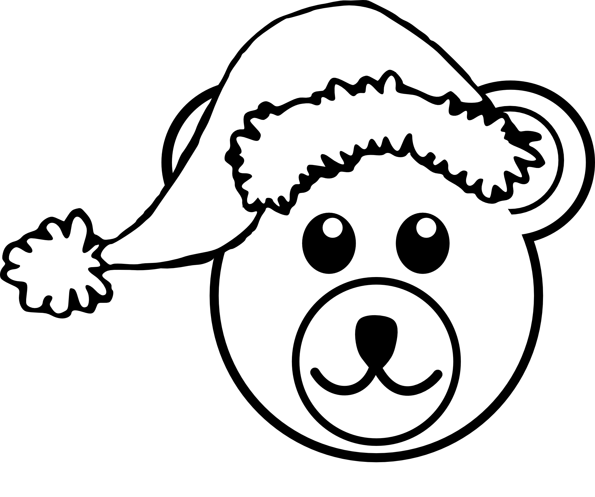 1979x1654 Drawn Bear Cartoon Black And White