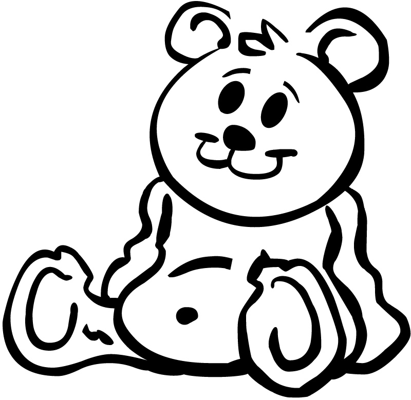 800x779 Drawn Teddy Bear Cartoon Black And White