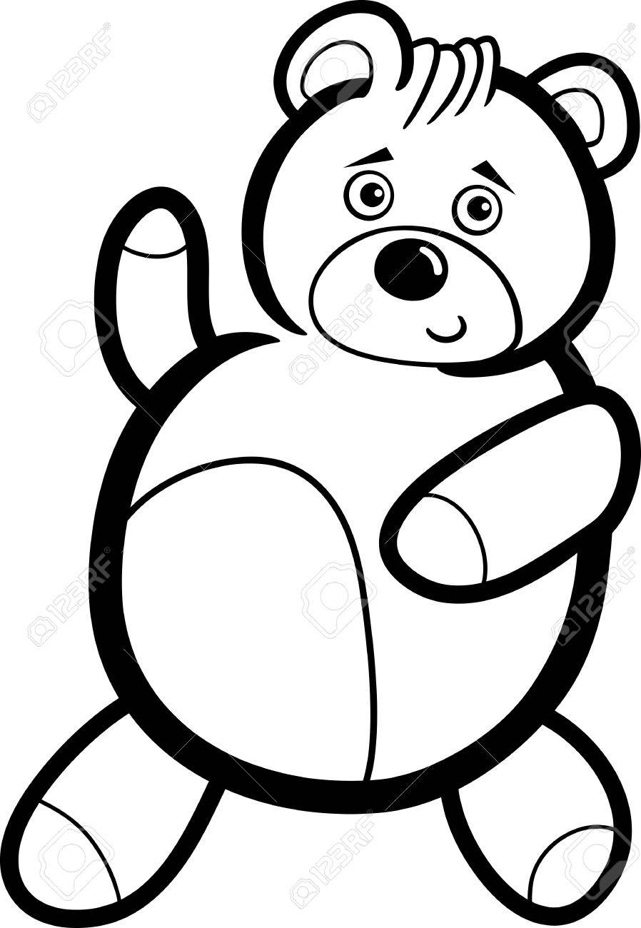 898x1300 Illustration Of Cute Teddy Bear Cartoon Character For Coloring