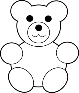 255x299 Teddy Bear Black And White Clipart