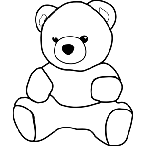 300x300 Teddy Bear Clipart Black And White