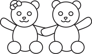300x177 Teddy Bear Black And White Black And White Clipart Boy Hugging