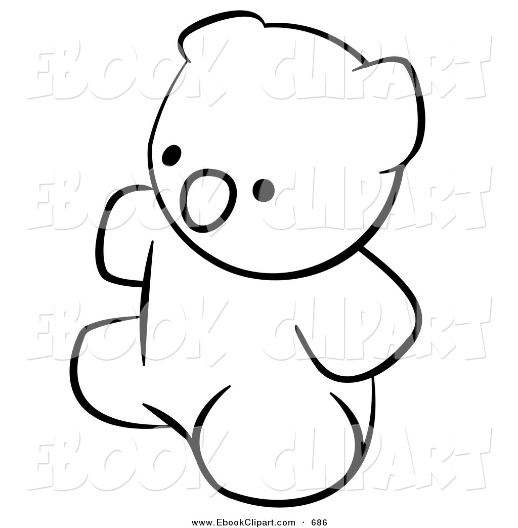 1024x1044 Vector Clip Art Of A Black And White Human Factor Teddy Bear