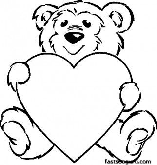 322x338 Best Teddy Bear With Heart Ideas White Teddy