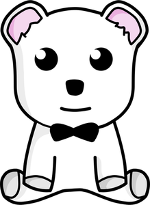 Teddy Bear Black And White Clipart