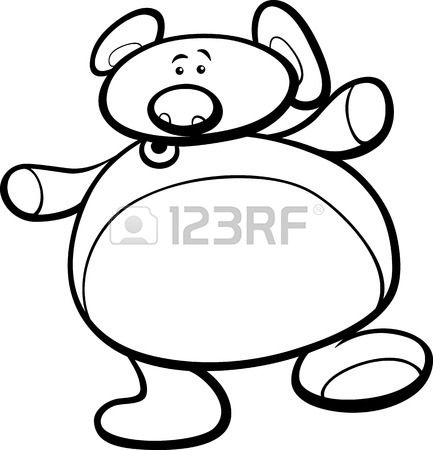 433x450 Illustration Of Cute Teddy Bear Cartoon Character For Coloring