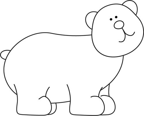 500x403 Black And White Bear Clipart, Explore Pictures