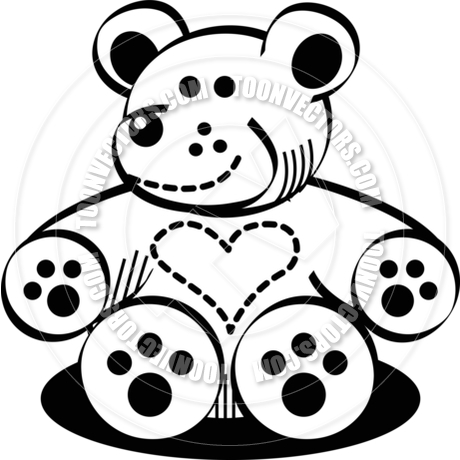 460x460 Cartoon Teddy Bear Vector Illustration By Clip Art Guy Toon