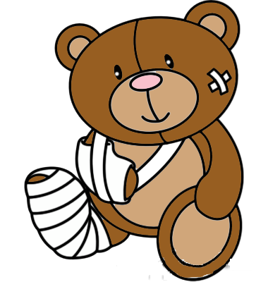 380x400 Teddy Bear Clipart Sick