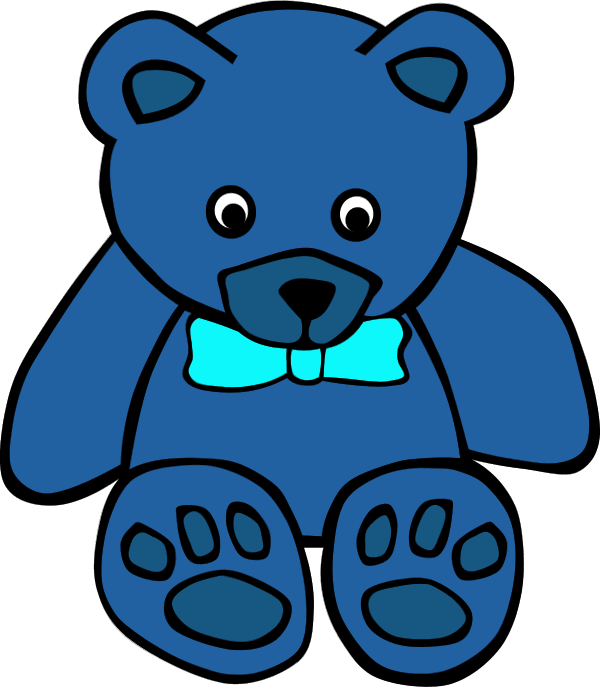 600x687 Blue Teddy Bear Clipart 3