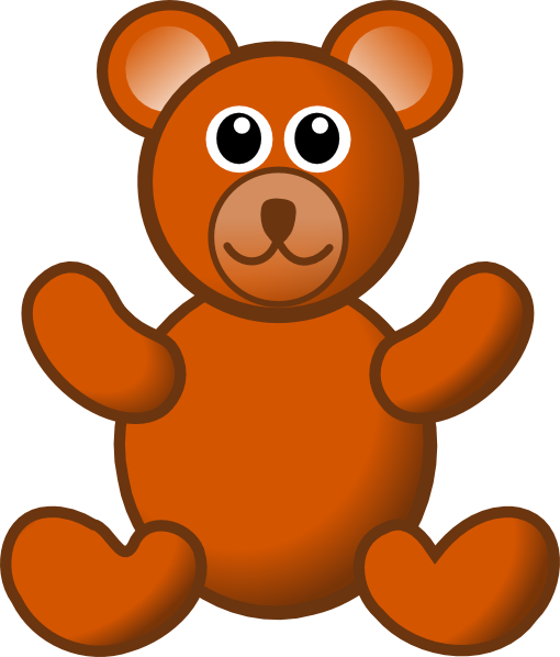 510x598 Brown Teddy Bear Clip Art