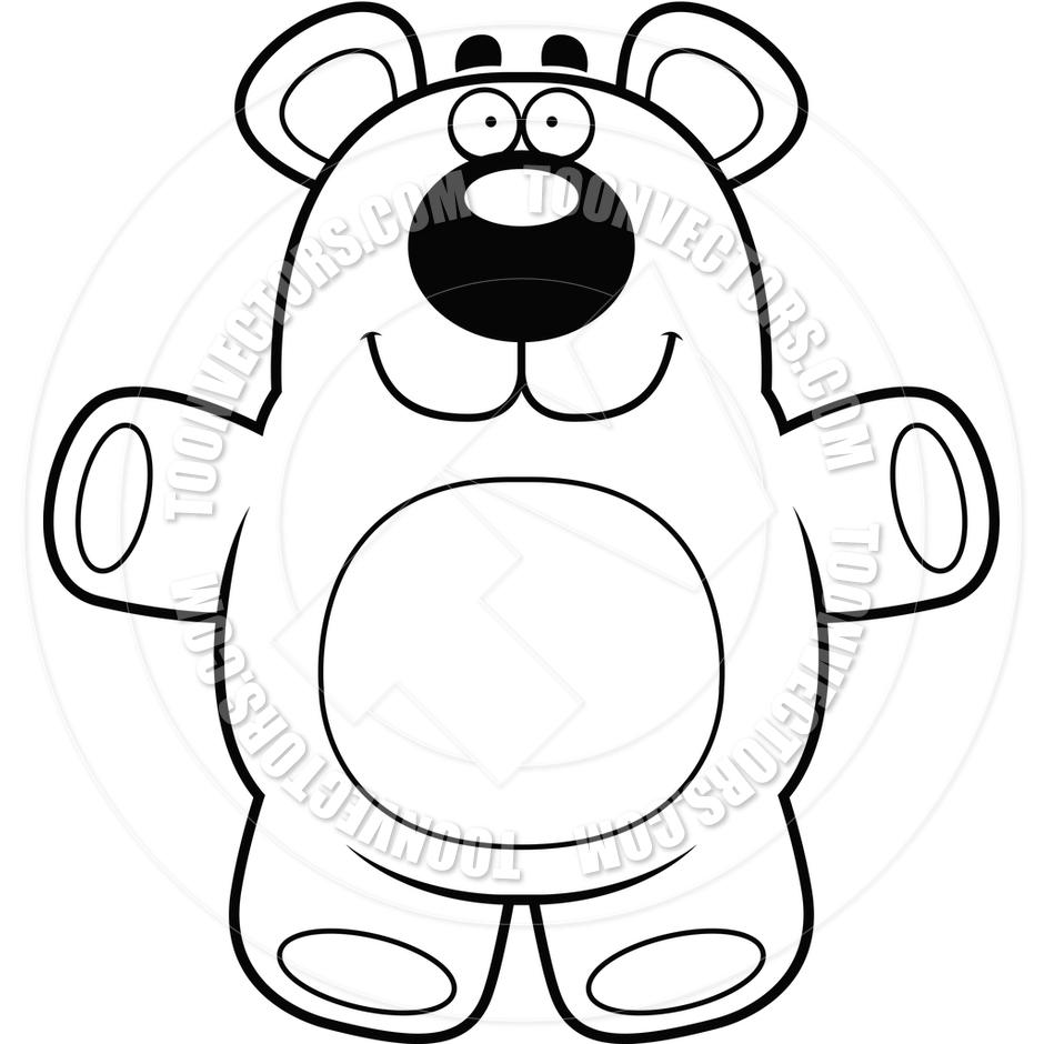 940x940 Drawn Teddy Bear Cartoon Black And White