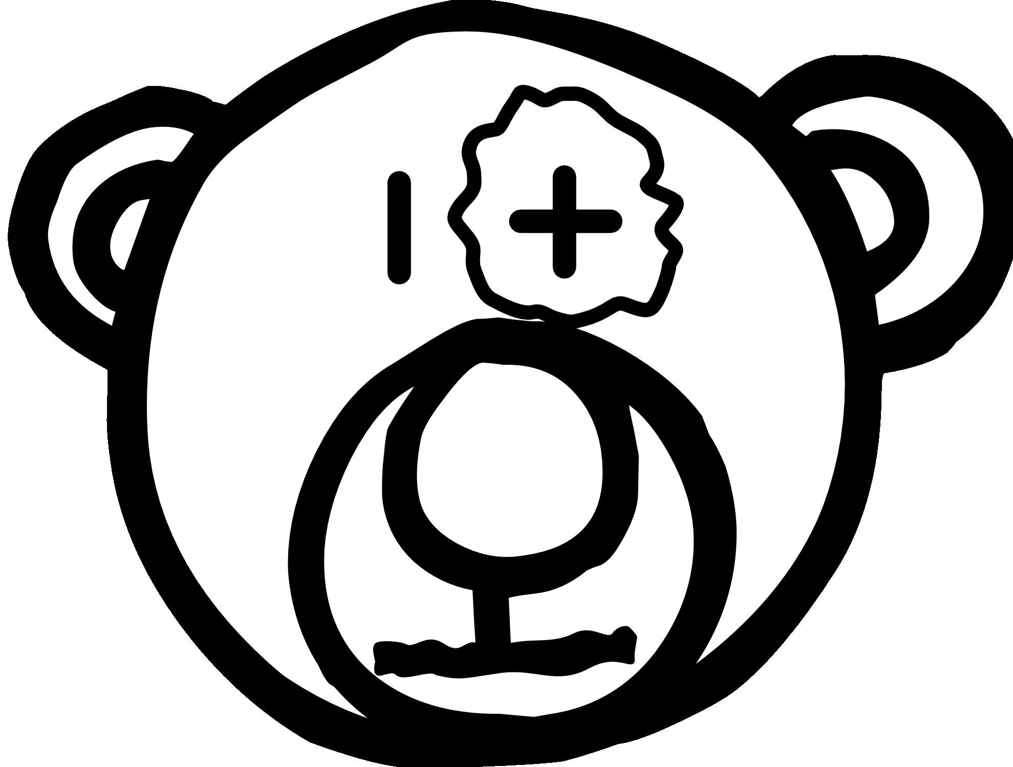 1979x1499 Teddy Bear Clip Art Black And White