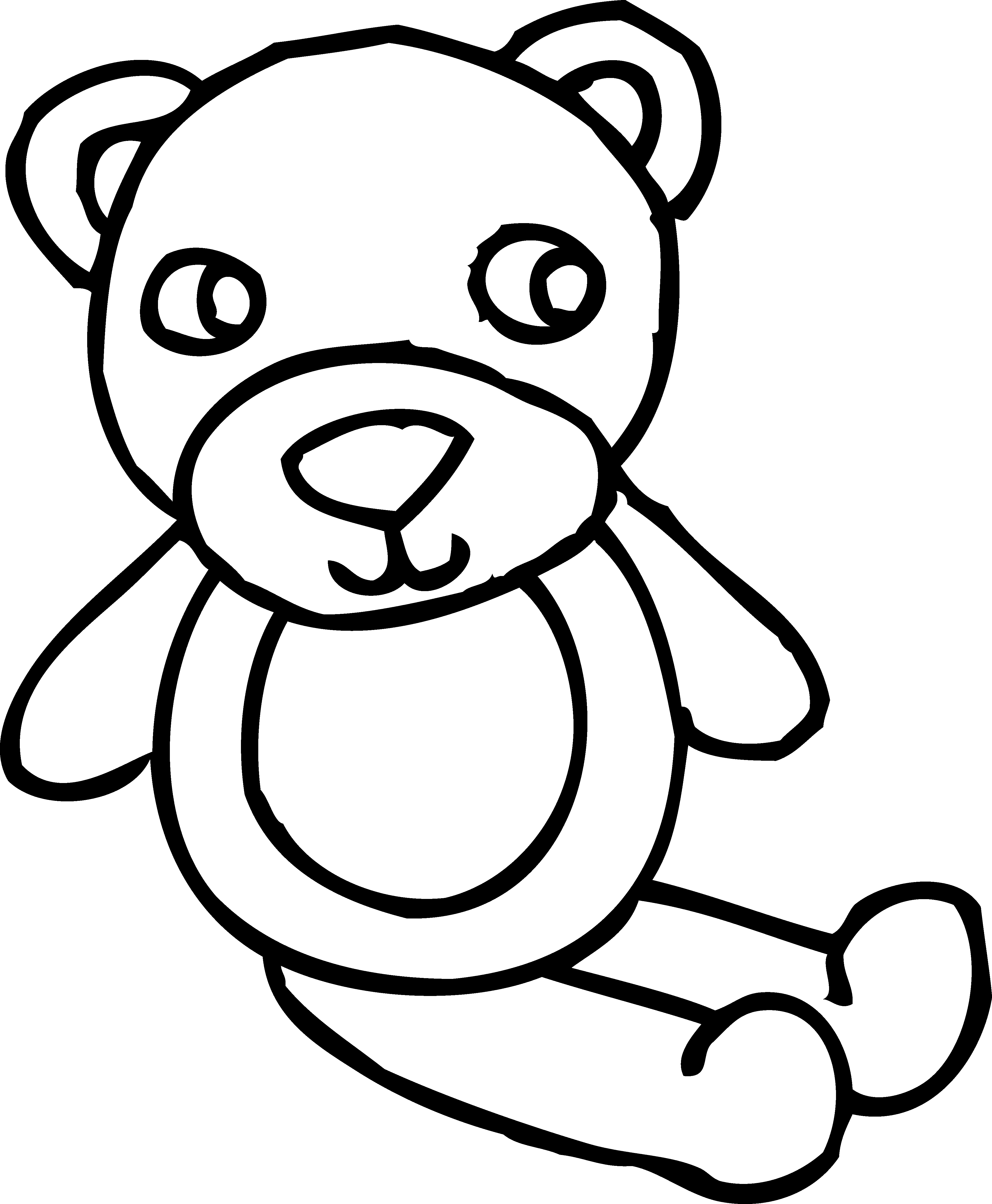 4006x4862 Teddy Bear Toy Coloring Page