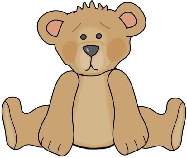 600x507 Teddy Bear Clipart Black And White Bear
