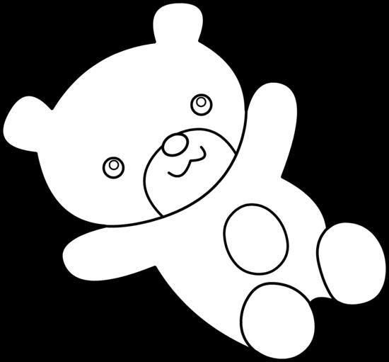 550x511 Teddy Bear Pic Black And White Teddy Clip Art Clipartcow