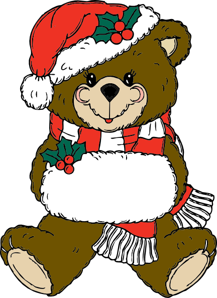 432x594 Christmas Bear Clip Art Free Vector 4vector