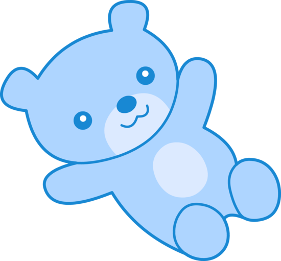 550x511 Cute Blue Teddy Bear Clipart
