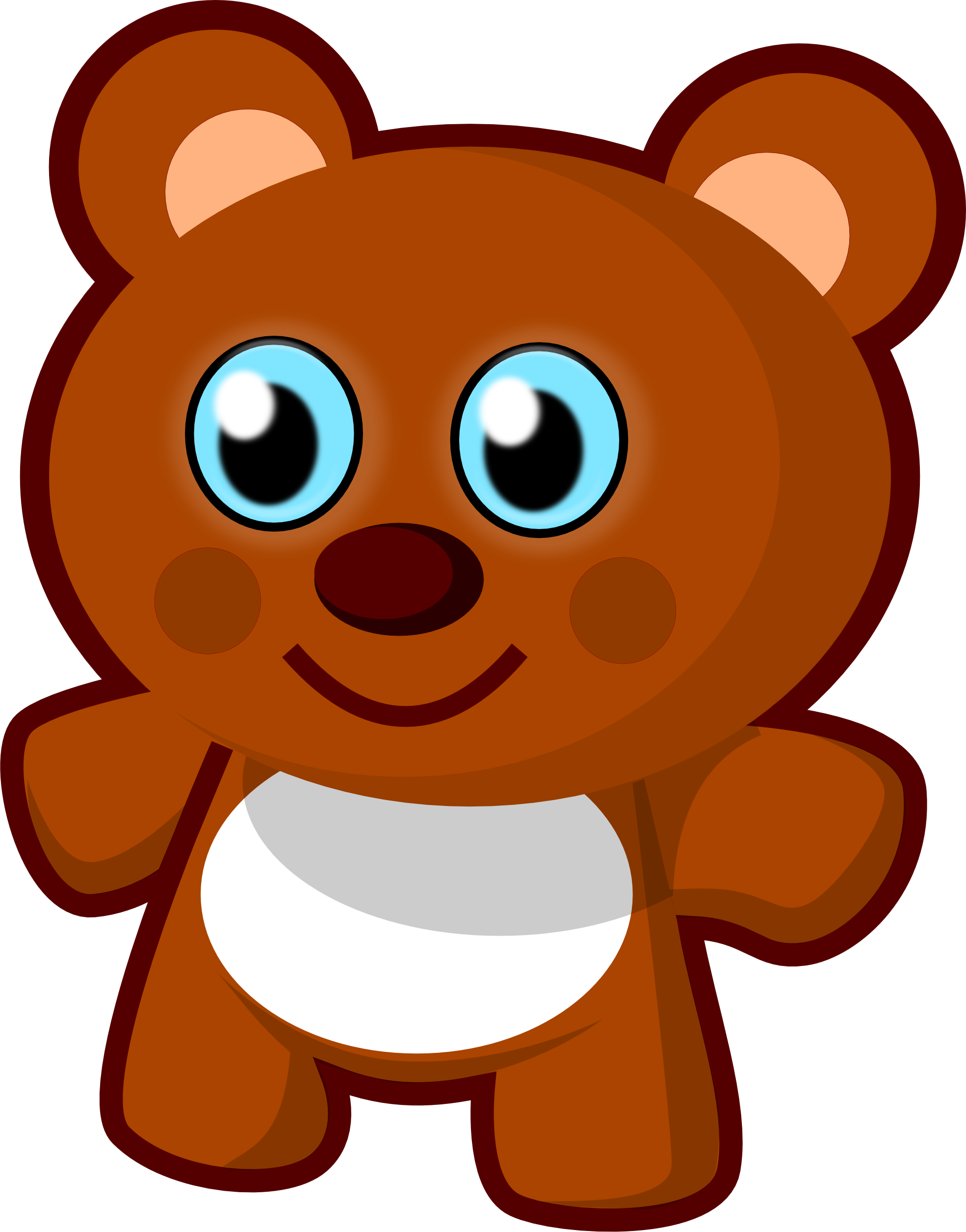 1969x2510 Free Clip Art Vector Design Of Little Bear Toy Svg Has Been