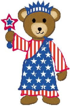 236x356 Patriotic Teddy Bear Clip Art Clip Art